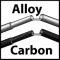 Alloy and carbon fibre poles